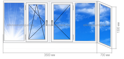 Остекление балконов 1-515/9М