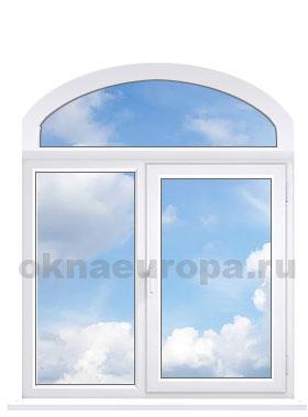 Лучковое арочное окно