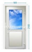 Пластиковая дверь с глухим низом