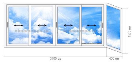 Окна и остекление балконов в домах серии ii18.