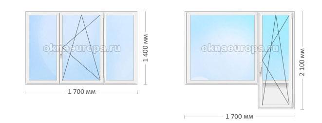 Цены на типовые металлопластиковые окна