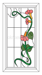 Пластиковые окна с рисунком