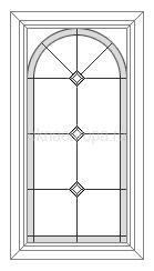 витражное окно в дом