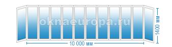 Цены на остекление балкона 10 метров