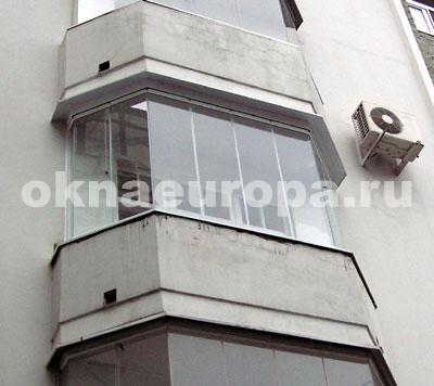 Остекление балконов алюминиевым и пластиковым профилем..