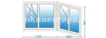 """""""Г""""-образная форма балкона"""