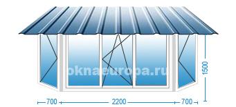 остекление балконов c крышей установка