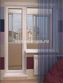 ПВХ балконная пара с глухим окном