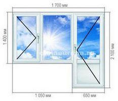 Типовые размеры балконного блока