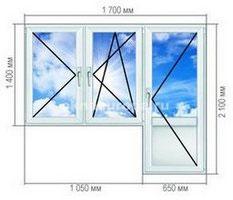 Стоимость двери и окна ПВХ