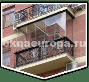Окна без рам на балконе