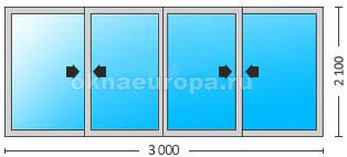 Двери Rehau Slide