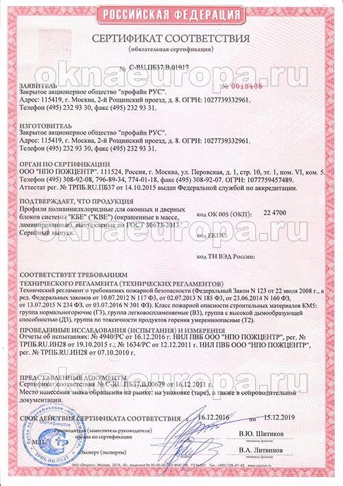 Пожарный сертификат 2222