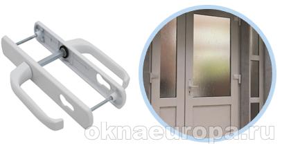 Нажимной гарнитур для дверей со стеклопакетом