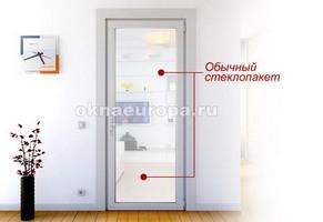 Стандартная стеклянная межкомнатная дверь