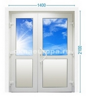 Стандартные двухстворчатые двери ПВХ