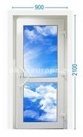 Типовая входная дверь со стеклопакетом