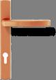 Квадратная ручка - бронза