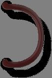 Ручка круглая квадратная коричневая