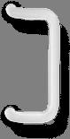 Ручка скоба квадратная белая