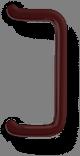 Ручка скоба квадратная коричневая