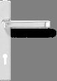 Квадратная ручка - серебро