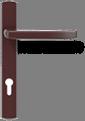 Квадратная ручка - коричневая