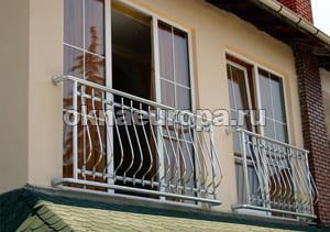 Французские окна на лоджии