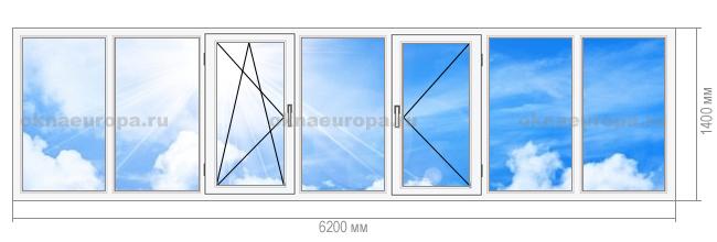 Окна ПВХ на балкон И-700А