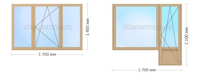 Цена коричневых окон