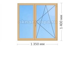 Цена на пластиковые коричневые окна