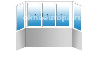 Стоимость алюминиевого остекления и отделки балкона