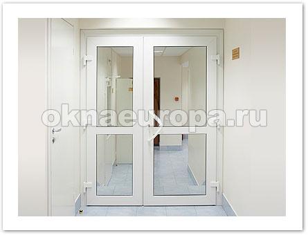 Пластиковые офисные двери входные ПВХ
