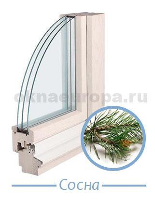 Деревянные стеклопакеты из сосны