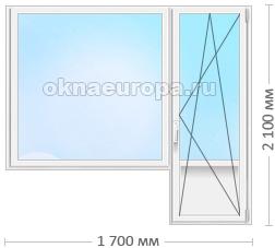 Пластиковое окно с дверью в Наро-Фоминске