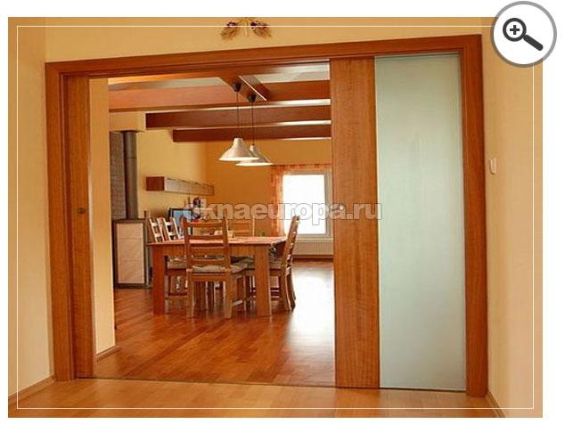 Откатные межкомнатные двери в столовую
