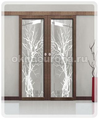 Стеклянные откатные двери