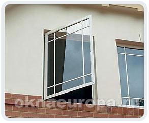 Открывание окна наружу