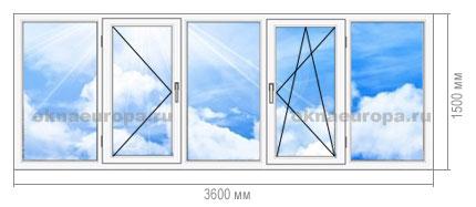 Остекление лоджии окнами ПВХ П-44М
