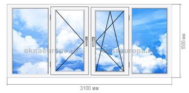 Остекление балкона пластиковыми окнами в П-42