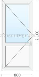 Цена пластиковой двери со стеклопакетом