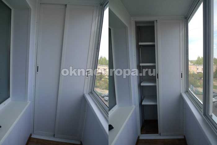 Шкаф для лоджии из алюминиевого профиля