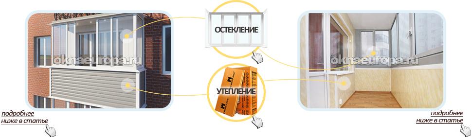 Отделка балкона и лоджии в Москве
