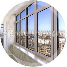 Вариант остекления лоджии окнами ПВХ