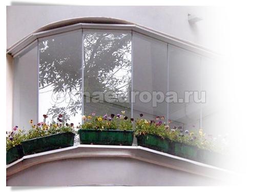 Безрамный вид остекления балкона и лоджии