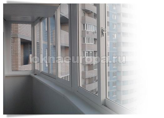 Вариант остекления балкона ПВХ окнами SLIDORS