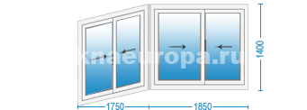 Цены на раздвижные алюминиевые окна на балкон