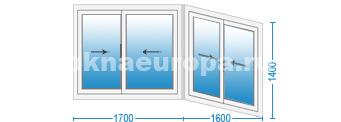 Цена на раздвижные окна на балкон