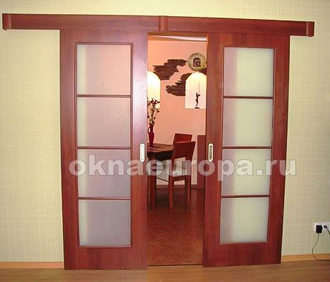 Раздвижные двойные межкомнатные двери своими руками
