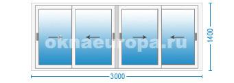 Цены на раздвижные окна для лоджии